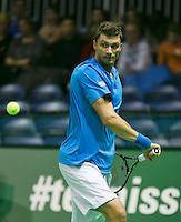 09-02-14, Netherlands,Rotterdam,Ahoy, ABNAMROWTT,, Daniel Brands <br /> Photo:Tennisimages/Henk Koster
