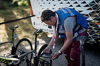 pre-race UCI technical controll<br /> <br /> Stage 11: Saint-Palais to Urdax-Dantxarinea (180km in The Basque Country > FRA & ESP) <br /> La Vuelta 2019<br /> <br /> ©kramon