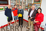 St Pats launch their Referee recruitment drive on Tuesday night, with a scholarship to Kerry College Clash Campus as the aim to recruit referees for the club.  Front Jimmy Mulligan (Chairman St Pats GAA) and Mary Lucey (Principal KCFE(.<br /> Back to r: Kieran O'Shea, James and Joe Costello.
