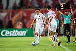 Shanghai FC Defender Zhang Wei (L) in action during the AFC Champions League 2017 Quarter-Finals match between Guangzhou Evergrande (CHN) vs Shanghai SIPG (CHN) at the Tianhe Stadium on 12 September 2017 in Guangzhou, China. Photo by Marcio Rodrigo Machado / Power Sport Images