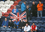 The Rangers maintenance lads take their seats early for the game