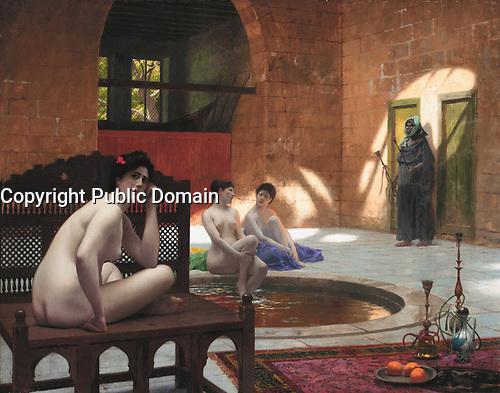 Femmes au bain<br /> *oil on canvas<br /> *74 x 94 cm<br /> *signed b.c.: J.L. GEROME