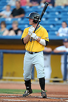 Bowling Green Hot Rods outfielder Brett Nommensen during a game vs. the Lake County Captains at Classic Park in Eastlake, Ohio;  August 20, 2010.   Lake County defeated Bowling Green 5-3.  Photo By Mike Janes/Four Seam Images