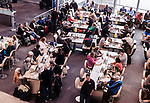 People waiting for their flight at Toronto Pearson International airport, Canada 2014