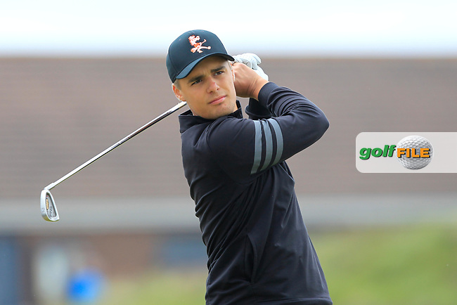 Hugo Townsend (SWE) on the 5th tee during Round 1 of the The Amateur Championship 2019 at The Island Golf Club, Co. Dublin on Monday 17th June 2019.<br /> Picture:  Thos Caffrey / Golffile<br /> <br /> All photo usage must carry mandatory copyright credit (© Golffile   Thos Caffrey)