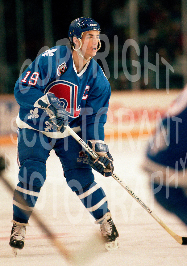 Joe Sakic Quebec Nordiques 1993. Photo F. Scott Grant