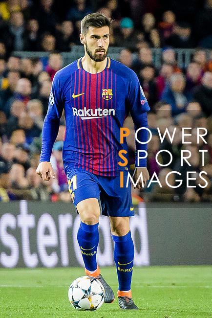 Andre Filipe Tavares Gomes of FC Barcelona in action during the UEFA Champions League 2017-18 quarter-finals (1st leg) match between FC Barcelona and AS Roma at Camp Nou on 05 April 2018 in Barcelona, Spain. Photo by Vicens Gimenez / Power Sport Images
