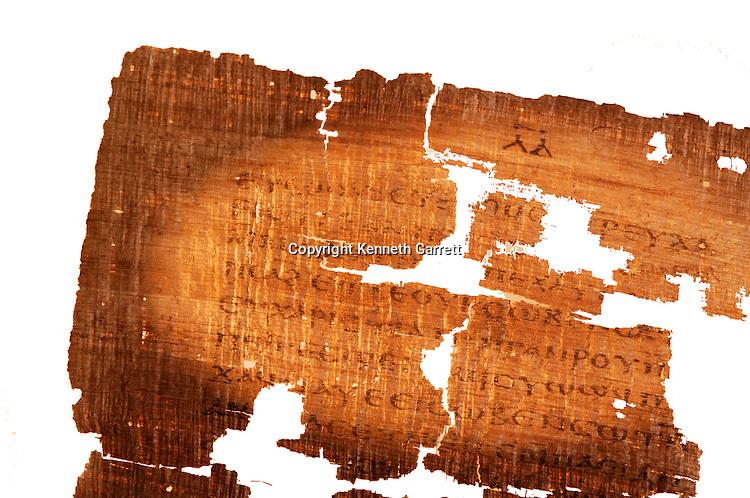 Detail of the Gospel of Judas; Codex Tchacos; Critical Edition, Gnostic text;Geneva.