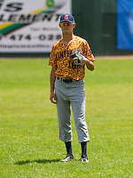 GREEN BAY - June 2015: Kenosha Kingfish infielder Alex Borglin (16) during a Northwoods League game against the Green Bay Bullfrogs on June 21st, 2015 at Joannes Park in Green Bay, Wisconsin. Green Bay defeated Kenosha 10-7. (Brad Krause/Krause Sports Photography)