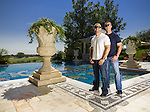 Lorenzo Fertitta (left) and his brother Frank Fertitta III of Station Casinos, Inc. and Ultimate Fighting Championship photographed at the pool of Frank's Las Vegas mansion for Forbes Magazine on August 24, 2007