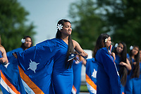 NWA Democrat-Gazette/BEN GOFF @NWABENGOFF<br /> Marshallese flag dancers perform Friday, May 25, 2018, during the opening ceremony for the 39th annual Republic of the Marshall Islands Jemenei (Constitution) Day celebration at the Jones Center in Springdale. The celebration continues Saturday with basketball, baseball and other sporting events.