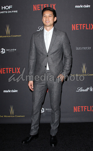 10 January 2016 - Los Angeles, California - Harry Shum, Jr.. 2016 Weinstein Company & Netflix Golden Gloves After Party held at the Beverly Hilton Hotel. Photo Credit: AdMedia