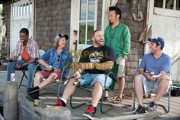 CHRIS ROCK, DAVID SPADE, KEVIN JAMES, ROB SCHNEIDER & ADAM SANDLER .in Grown Ups.*Filmstill - Editorial Use Only*.CAP/FB.Supplied by Capital Pictures.