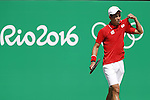 Kei Nishikori (JPN), <br /> AUGUST 6, 2016 - Tennis : <br /> Men's Singles First Round <br /> at Olympic Tennis Centre <br /> during the Rio 2016 Olympic Games in Rio de Janeiro, Brazil. <br /> (Photo by Yusuke Nakanishi/AFLO SPORT)