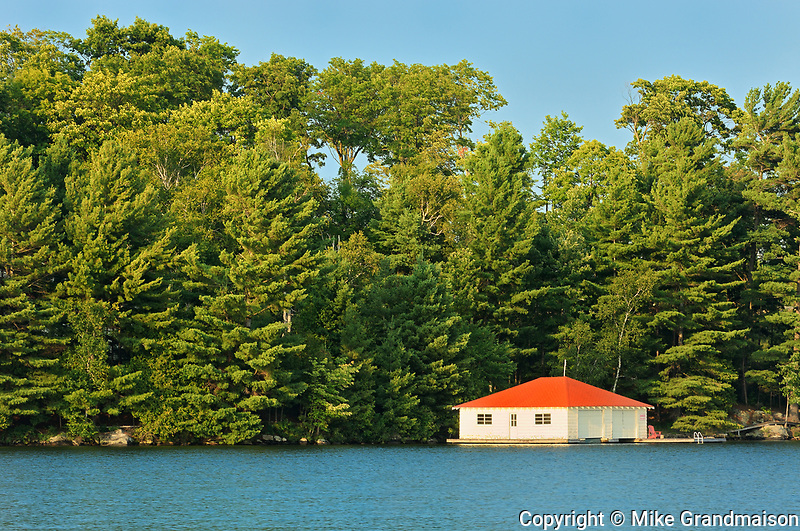 Boathouse, Minett, Ontario, Canada