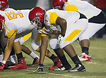 Torrance, CA 09/08/17 - Dcalyn Potts (Hawthorne #79) in action during the Hawthorne vs South Torrance CIF-SS non-conference Varsity football game at South Torrance High School.