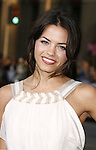 """Actress Jenna Dewan arrives to the """"Iron Man"""" premiere at Grauman's Chinese Theatre on April 30, 2008 in Hollywood, California."""