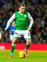 5th February 2020; Ibrox Stadium, Glasgow, Scotland; Scottish Premiership Football, Rangers versus Hibernian; Scott Allan of Hibernian