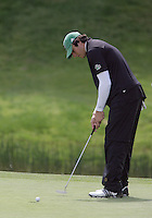 20 May, 2010:  Loyola Universities Alex Redfearn putts his shot on hole nine of the NCAA Division I Regionals tournament Thursday at Gold Mountain Golf Course in Bremerton, WA.