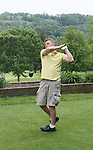 Guiding Light's Robert Newman plays golf on Sat. May 22 during We Love Soaps Weekend on  May 21 and May 22 2010 at Villa Roma Resort in Callicoon, New York. (Photo by Sue Coflin/Max Photos)