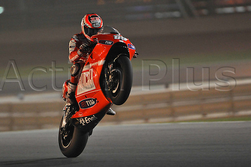 10 04 2010  ImagePhoto GN Losail Qatar 10 04 2010  Libere MotoGP Photo Giorgio   Nicky Hayden . Action from the FIM MotoGP Qatar World Cup.
