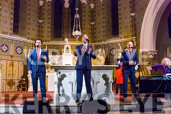 the Three Tenors Dominick McGorian, Shane Morgan and Derek Moloney performing in St Stephen and John church Castleisland on Tuesday night