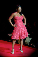 2/13/09 - Photo by John Cheng.  Nia Long walks down the runway at the Red Dress Collection Fashion Show in Bryant Park, New York.  February is National Heart Month, and the fashion show is part of the month-long activities to raise women?s heart disease awareness.