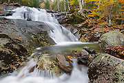 Kinsman Notch - Stark Falls which are located along Stark Falls Brook in Woodstock, New Hampshire USA during the autumn months.