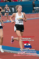 St. Teresa's senior Ann Campbell runs to a fourth-place finish in the girls 3200-meters in 11:0.51 at the 2015 Kansas Relays.