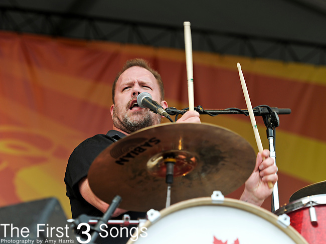 Fred LeBlanc of Cowboy Mouth performs during the New Orleans Jazz & Heritage Festival in New Orleans, LA on May 8, 2011.