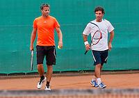 August 13, 2014, Netherlands, Raalte, TV Ramele, Tennis, National Championships, NRTK, Mens doubles: Bart Beks/Remko de Rijke<br /> Photo: Tennisimages/Henk Koster