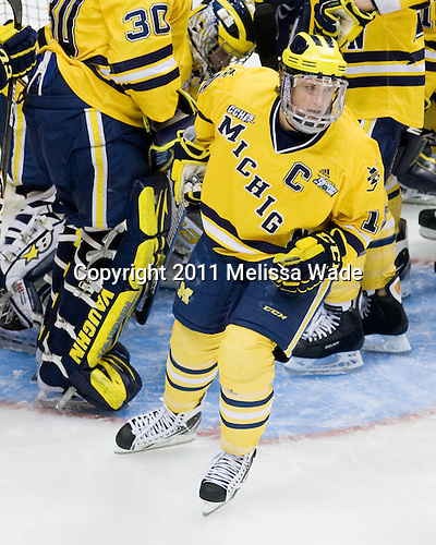 Carl Hagelin (Michigan - 12) - The University of Minnesota-Duluth Bulldogs defeated the University of Michigan Wolverines 3-2 (OT) to win the 2011 D1 National Championship on Saturday, April 9, 2011, at the Xcel Energy Center in St. Paul, Minnesota.