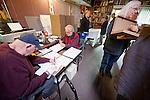 At Al Weber's Studio assembling the Mission San Antonio de Padua portfolio--..Martín Vargas, Vance MacDonald and his Anita, Annie Pike, Mary Weeks, Robin Travers with Danelle, Joe Enos, Virginia Courtney, John Norberg,Fernando Batista, Barbara Moon,