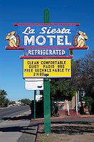 La Siesta Motel sign in Tucson, AZ