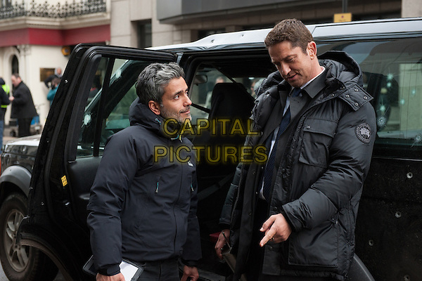 London Has Fallen (2016) <br /> Director Babak Najafi and actor / producer Gerard Butler on the set<br /> *Filmstill - Editorial Use Only*<br /> CAP/FB<br /> Image supplied by Capital Pictures