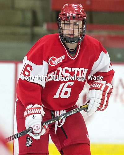 Caroline Campbell (BU - 16) - The Harvard University Crimson defeated the visiting Boston University Terriers 3-1 on Friday, November 22, 2013, at Bright-Landry Hockey Center in Cambridge, Massachusetts.