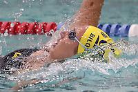 CORVALLIS, OR - October 7, 2016: Cal Bears Women's Swimming team vs. the Oregon State University Beavers at Osborn Aquatics Center. Final score, Cal Bears 163, Oregon State University Beavers 88.