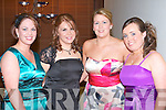 Paula O'Dwyer, Hannah Finucane, Eimear Falvey and Roisin Devitt graduates of ITT General Health Nursing Degree Course enjoying their graduation ball at the Ballyroe Heights Hotel on Thursday..   Copyright Kerry's Eye 2008