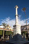 Monument memorial in Plaza Vieja, Plaza de la Constitucion, City of Almeria, Spain