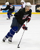 Kevin Shattenkirk (US White - 14) - US players take part in practice on Friday morning, August 8, 2008, in the NHL Rink during the 2008 US National Junior Evaluation Camp and Summer Hockey Challenge in Lake Placid, New York.