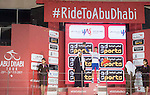 Julian Alaphilippe (FRA) Quick-Step Floors wins the young riders White Jersey at the end of Stage 4 Yas Island Stage of the 2017 Abu Dhabi Tour, 143km with 26 laps of 5.5km of the Yas Marina Circuit, Abu Dhabi. 26th February 2017.<br /> Picture: ANSA/Claudio Peri | Newsfile<br /> <br /> <br /> All photos usage must carry mandatory copyright credit (&copy; Newsfile | ANSA)