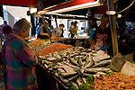Food markets in Venice, Italy,