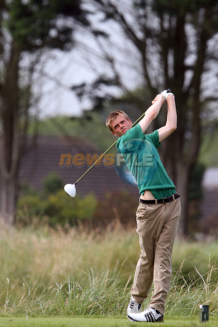 Alec Myles (IRL) on the 4th tee on the Final Day at the 2012 Boys Home Internationals at Co.Louth Golf Club in Baltray, Co.Louth...(Photo credit should read Jenny Matthews/NEWSFILE)...