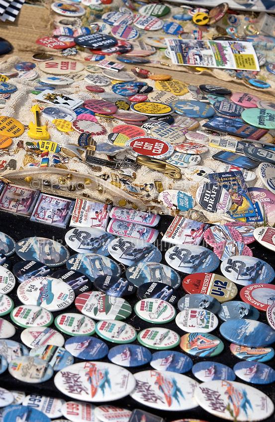 Hydros-PROP Seafair, Lake Washington, Seattle, Washington, USA 4 August,2002  Unlimited Hydroplane team buttons on display at Seafair..Copyright©F.Peirce Williams 2002..F. Peirce Williams.photography.P.O. Box 455 Eaton, OH 45320 USA.317.358.7326  fpwp@mac.com
