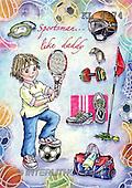 Interlitho, Dani, TEENAGERS, paintings, boy, sports utilities(KL4174,#J#) Jugendliche, jóvenes, illustrations, pinturas ,everyday