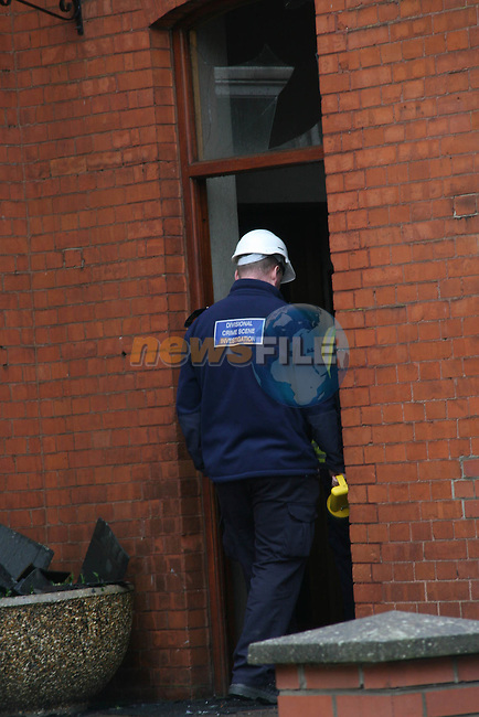 Corporation of Drogheda Housing and Planning Section which was destroyed by fire last night.  A technical exaimination will take place to determine the cause of the fire...Photo NEWSFILE/Jenny Matthews.(Photo credit should read Jenny Matthews/NEWSFILE)....This Picture has been sent you under the condtions enclosed by:.Newsfile Ltd..The Studio,.Millmount Abbey,.Drogheda,.Co Meath..Ireland..Tel: +353(0)41-9871240.Fax: +353(0)41-9871260.GSM: +353(0)86-2500958.email: pictures@newsfile.ie.www.newsfile.ie.FTP: 193.120.102.198.