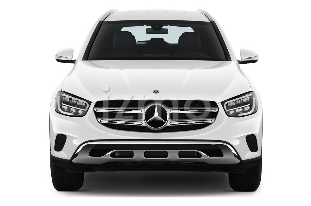Car photography straight front view of a 2020 Mercedes Benz GLC-Class GLC300 5 Door SUV