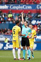 Pita (midfield; CD Lugo) during the Spanish <br /> la League soccer match between CA Osasuna and CD Lugo at Sadar stadium, in Pamplona, Spain, on Saturday, <br /> April 28, 2018.