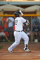 Lakeland Flying Tigers designated hitter Kade Scivicque (28) at bat during a game against the Tampa Yankees on April 7, 2016 at Henley Field in Lakeland, Florida.  Tampa defeated Lakeland 9-2.  (Mike Janes/Four Seam Images)