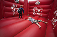 Arla had a very popular jumping castle at the Jamboree.